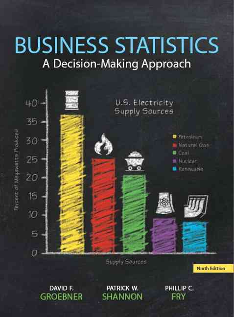Business Statistics + Mystatlab With Pearson Etext Access Card By Groebner, David F./ Shannon, Patrick W./ Fry, Phillip C./ Smith, Kent D.